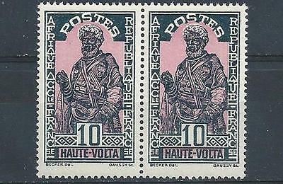 Upper Volta 1928 Sc# 47 Hausa chief French territory France pair MNH