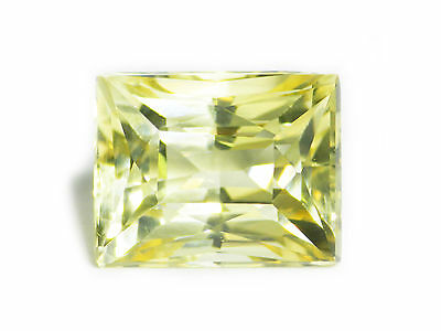 5.65 Ct Loose Natural Rectangle Cut Medium Yellow Feldspar Gemstone Ceylon-13393