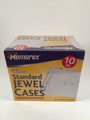 Memorex Standard Clear Jewel Cases 10 Pack *