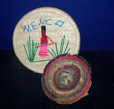 Small Straw Hat & Basket from Mexico