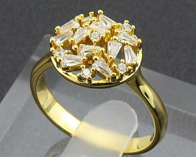 Antique Natural  Diamond  Rings 1.25ct In 14kt Solid Yellow Gold Size9