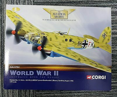 Heinkel He111 H-6, Ottana, Sardina, Aug42, Corgi Aviation Archive, Diecast model