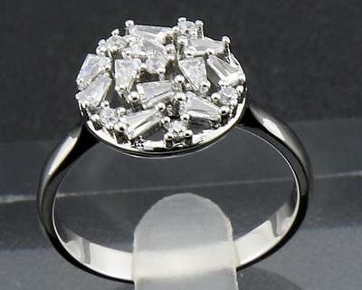 Antique Natural  Diamond  Rings 1.25ct In 14kt Solid White Gold Size9