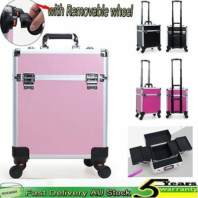 Pro Cosmetic Makeup Trolley Beauty Case Professional Travel Carry Box Salon New