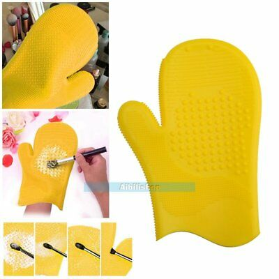 Makeup Brush Clean Silicone Glove Cleaning Cosmetic Scrubber Board Tool Mat【UK】