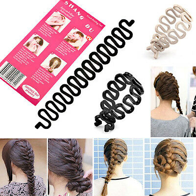 UK French Plait Hair Braiding Tool-Make Professional Looking Braid In Notime NEW