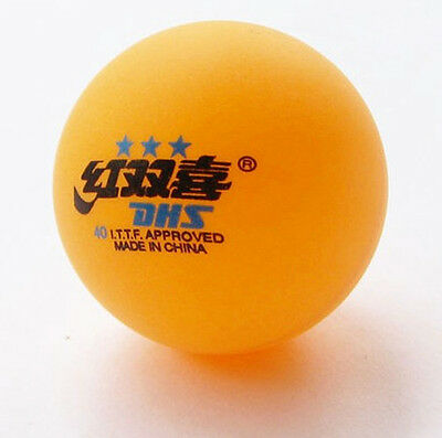 1 Boxes (6 Pcs) 3 Stars DHS 40 MM Olympic Table Tennis Orange Ping Pong Balls