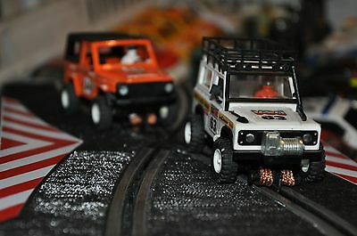 scalextric sts LAND ROVER +mercedes 280 ge