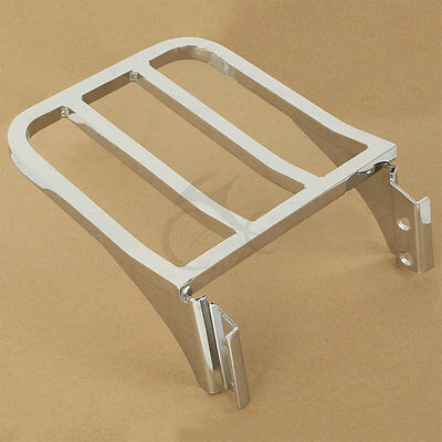 Sissy Bar Backrest Luggage Rack For Harley Davidson Softail Dyna Super Glide