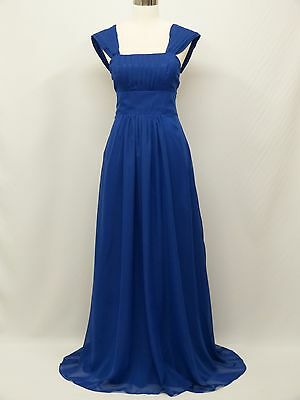 dress190 Blue Chiffon Corset Party Bridesmaid Wedding Prom Ball Gown Dress 14