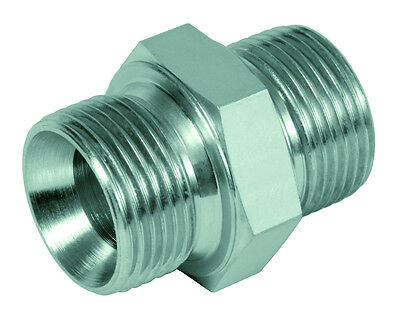 """Hydraulic Straight Screw connection Double nipple Inch BSP by g 1/8 """"to G 2 1/2"""""""