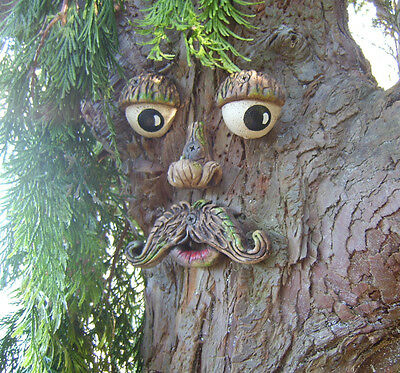 Mr Tree Face.  Garden ornament. sculpture, statue, tree art decorations, Gifts