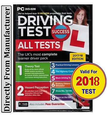 2017 Driving Theory Test All Tests & Hazard Perception PC DVD NEW *atpc