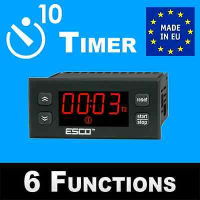 Timer 12V time switch 24V work time counter with alarm buzzer time delay relay