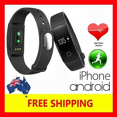 Very Fit Id107 Heart Rate Fitness Tracker Wristband Fitbit Style Iphone Android