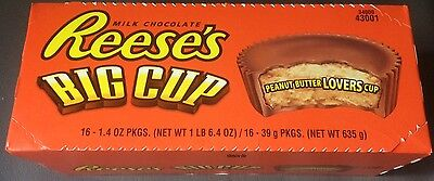 16x Hershey's Reeses Big Lovers Cups Peanut Butter mit Erdnussbutter (26,69€/kg)