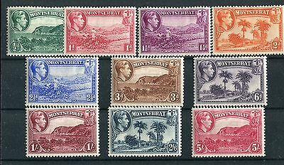 Montserrat KGVI 1938 issue p13  to 5s SG101/10 mounted mint