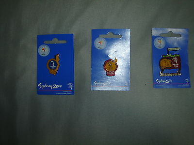 Sydney Olympic Pins X 3 Brand New With Packaging