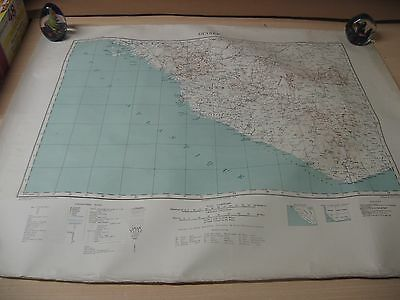 Vintage Map Of Guinee In Africa (Cloth Map)