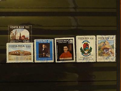 6 Stamps From Costa Rica - Used And Off Paper