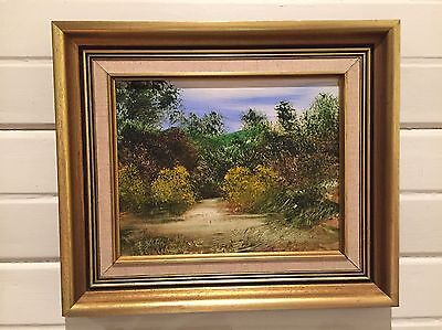 Pair Of Original Signed Gold Framed Oil Painting by Jim Crofts - 30 X 35cm