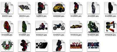 Racing themed Brother Machine Embroidery Designs PES CD,USB