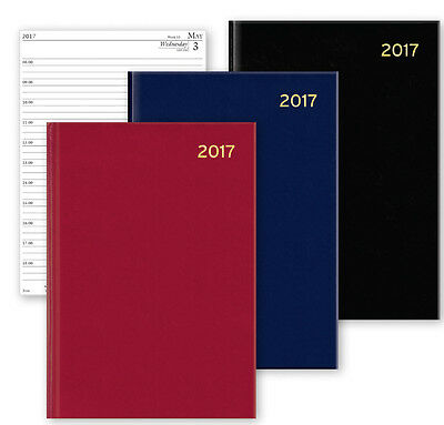 2017 A4/A5/A6 Diary Day to Page or Week to View Desk Diary Hard Backed Diary
