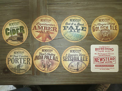 Complete set of 7 & 1 Different NEWSTEAD BREWERY,QLD  BEER COASTERS,collectable