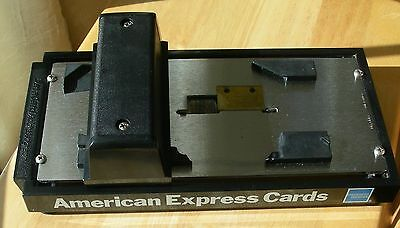 Vintage DataCard Addressograph Manual Credit Card Imprinter American Express