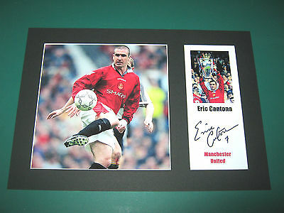 Eric Cantona Manchester United A4 Mount Signed Reprint Autograph Great Gift