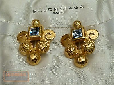 Balenciaga Paris Ohrclips Vergoldet Nice Clip On Earring Vintage Gold Plated