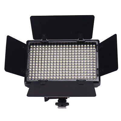 20W LED308 Portable Mini Size 5600K Studio Video Light Panel Camera DSLR Hotshoe