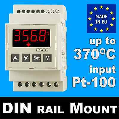 HEATING COOLING temperature CONTROLLER DIN rail THERMOSTAT RTD Pt100 -30+370C