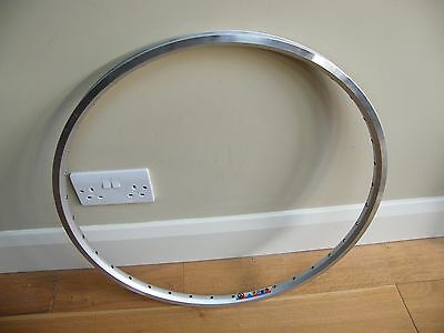 "Rigida Laser Silver 26"" Rim 559 - 19 Double Eye-Letted 36 Hole Brake Brand New"