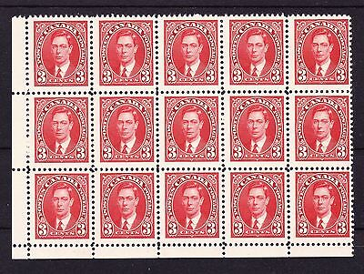 CANADA 1937 3c SCARLET WITH CREASE ON COLLAR R9/5 SG 359b MNH.