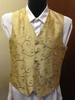 Heir Loom Waistcoat, Gold Patterned, Various Sizes, Wedding / Formal (039)