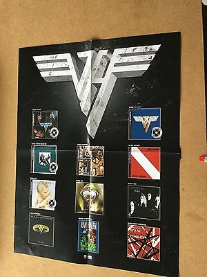 "Van Halen ""13 covers"".  2-sided  Original promo poster"