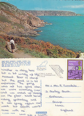 1980's ICART POINT GUERNSEY CHANNEL ISLANDS COLOUR POSTCARD