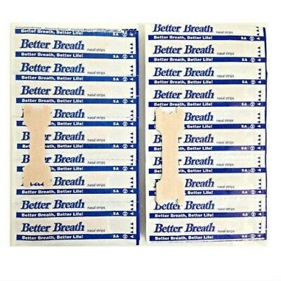 New BREATH NASAL STRIPS REG OR LARGE ANTI SNORING AID TO STOP SNORING UK SELLER