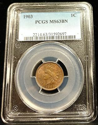 1903 Indian Head Cent PCGS MS63 BN