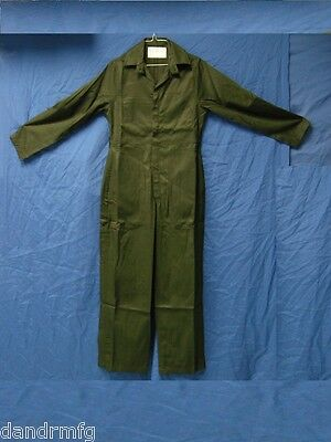 "New Women's Coveralls / Overalls Military Green Gabardine Size 6 5'4"" - 5'-7"""
