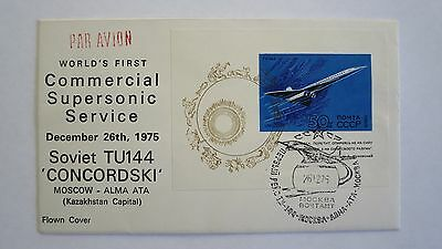 First Day Cover  TU144  'CONCORDSKI'