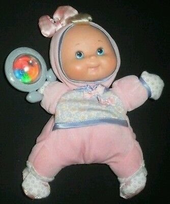 Fisher Price My First Baby Doll Infant Lovey Doll w Rattle ADORABLE