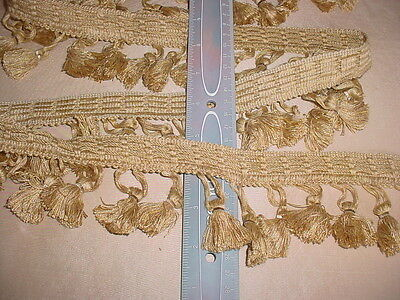13+y CONSO #97613 YV4  BUTTERSCOTCH TASSEL DRAPERY UPHOLSTERY TRIM