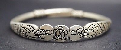 Antique/vintage Silver Chinese Bracelet 19Th - 20Th Century Ad