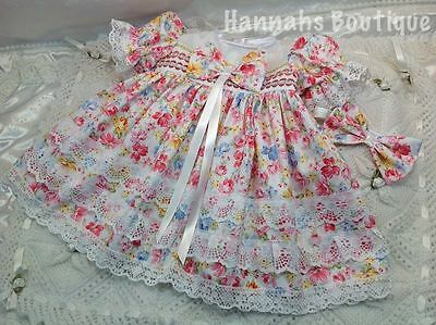 Hannahs Boutique 6-9 Month Baby Frilly Dress & Headband Set