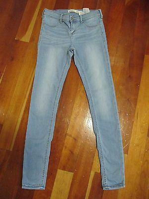 Youth Girls ABERCROMBIE Skinny Jeans Light Blue Size 16