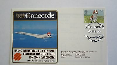 Concorde British Airways Cover London Barcelona