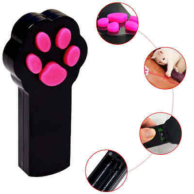 2 x Paw Style Dog Cat Catch the Interactive LED Light Pointer Red Exercise toy