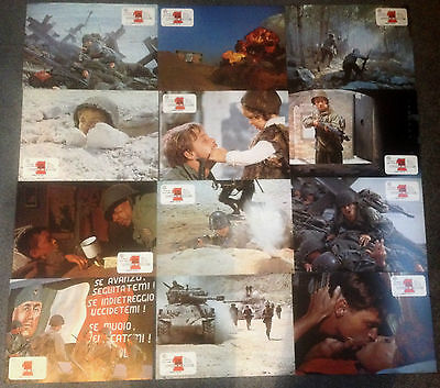 SET OF 12 ORIGINAL LOBBY CARDS THE BIG RED ONE Lee Marvin